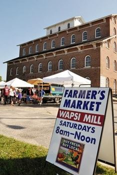 Farmers Market Sign and Mill