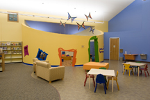 Flutterby Cove - a children's area in the library.