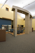 The teen area of the library
