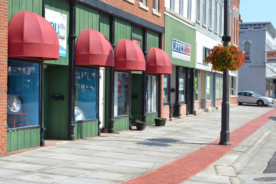 Main Street with store front view